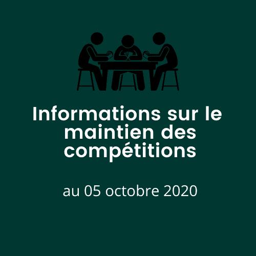 Maintien des Compétitions  Maintien des Compétitions Informations sur le maintien des comp  titions oct 2020